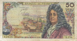 Billet 50 F Racine Du 5-11-1970 FAY 64.17 Alph. E.170 - 1962-1997 ''Francs''