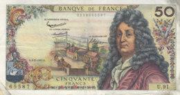 Billet 50 F Racine Du 4-3-1965 FAY 64.08 Alph. U.91 - 1962-1997 ''Francs''