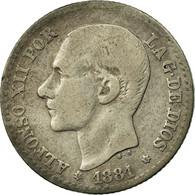 Monnaie, Espagne, Alfonso XII, 50 Centimos, 1881, Madrid, TB, Argent, KM:685 - [ 1] …-1931 : Royaume