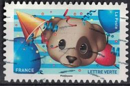 France 2018 Oblitéré Used Emoji Les Messagers De Vos Émotions Tête De Chien Y&T 1566 - France