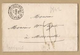 LAC Chambre Des Député Paris 9 Juin 1842 Vers Marseille - 1801-1848: Precursors XIX