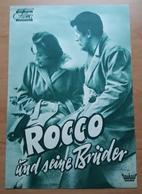 """Alain Delon In """"Rocco Und Seine Brüder"""" Mit Annie Girardot, Claudia Cardinale ... Altes DNFP-Filmprogramm (8 S.) /a64 - Magazines"""