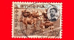 ETIOPIA - Usato - 1965 - Imperatore Haile Selassie E Panorami - Bestiame - Cattle At Water Hole - 1 - Vedi... - Etiopia