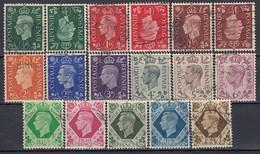 GB 1937 - MiNr: 198 - 211  Komplett  + 198-200 Z  Used - 1902-1951 (Könige)