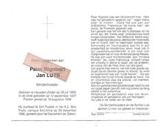P 830. Pater RIGOBERT (Jan Luts) -Minderbroeder- °HEUSDEN-ZOLDER 1909 /+ST-TRUIDEN 1996 - Images Religieuses