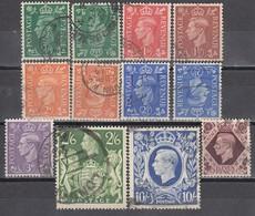 GB 1941 - MiNr: 221 - 229 + 221Z-224Z-225Z   Used - 1902-1951 (Könige)