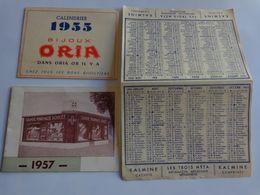 Lot Petits Calendriers Pub 1955-1950-1957-1953-bijoux Oria-labastie Pont L'abbe D'arnoult-labo Paul Metadier Etc. - Calendriers
