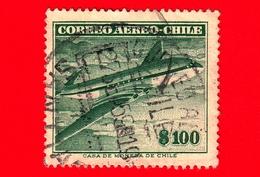 CILE  - CHILE - Usato - 1955 - Aereo - Comet - 100 P. Aerea - Cile