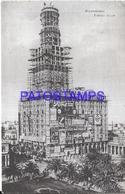 107844 URUGUAY MONTEVIDEO PALACIO SALVO  EN CONSTRUCCION POSTAL POSTCARD - Uruguay