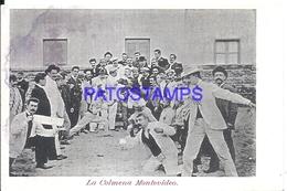 107845 URUGUAY MONTEVIDEO LA COLMENA COSTUMES MAN BOX SPOTTED POSTAL POSTCARD - Uruguay