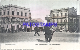 107846 URUGUAY MONTEVIDEO PLAZA INDEPENDENCIA CAFE TUPI - NAMBA POSTAL POSTCARD - Uruguay
