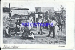 107849 URUGUAY COSTUMES ESCENAS CAMPESTRES DANCER POSTAL POSTCARD - Uruguay