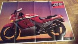 3847   KAWASAKI  PLAKAT  80 X 55 CM - Motos