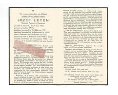 P 833. E.H. JOZEF LEYEN -°MAASEIK 1892 /ST.GILLIS/ MOLENBEERSEL/ LOKSBERGEN/ + ERPEKOM 1960 - Images Religieuses
