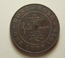 Hong Kong 1 Cent 1925 - Hong Kong