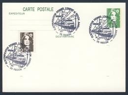 France Rep. Française 1991 Card / Karte / Carte - Électrification Rennes-Lorient Et Redon-Savenay / Elektrifizierung - Treinen