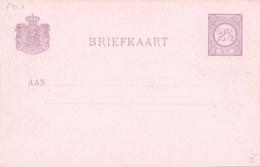 Nederland - 1898 - 2,5 Cent Cijfer, Briefkaart P33b - Tekening Jozef Israëls - Ongebruikt - Postwaardestukken