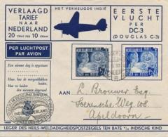 Nederlands Indië - 1937 - 5 En 15 Cent Leger Des Heils On Special Flight From LB Semarang To Apeldoorn / Nederland - Nederlands-Indië
