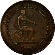 Monnaie, Espagne, Provisional Government, 2 Centimos, 1870, Madrid, TTB+ - [ 1] …-1931 : Royaume