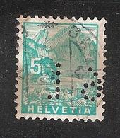 Perfin/perforé/lochung Switzerland No YT272 Pilatus  Perfin 19 - Perforés