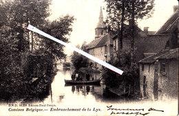 COMINES (Belgique) - Embranchement De La Lys - Carte Animée Avec Personnages Dans Une Barque - Komen-Waasten