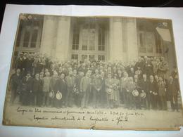 RARE PHOTO CARTON - GENT GAND - CONGRES ELUS COMMUNAUX PARTI SOCIALISTE PS 1924 - EXPO DE LA COOPERATION - Lieux