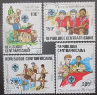 CENTRAFRIQUE Série N°491 Au 494 Oblitéré - Centrafricaine (République)