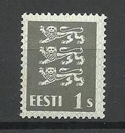 ESTLAND Estonia 1940 Michel 164 W (thick Gray Paper) MNH - Estonia