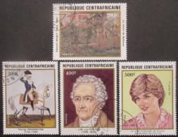 CENTRAFRIQUE Série N°507 Au 510 Oblitéré - Centrafricaine (République)