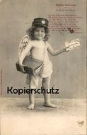ALTE POSTKARTE ENGEL ANGEL ANGE AMOR AMOURS BRIEF LIEBESBRIEF Letter Semi Nude Cpa Ansichtskarte Postcard AK - Engel