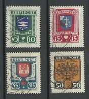 Estland Estonia 1936 CARITAS Michel 109 - 112 O - Estland