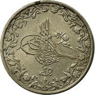Monnaie, Égypte, Abdul Hamid II, 1/10 Qirsh, 1899, Misr, TTB, Copper-nickel - Egypte