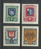 Estland Estonia 1936 CARITAS Michel 109 - 112 MNH - Estonia