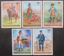 CENTRAFRIQUE Poste Aérienne Série N°143 Au 147 Oblitéré - Centrafricaine (République)