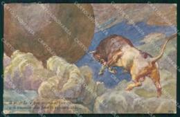 WW1 Propaganda Italiana Anti German Toro Germanico Moroni COLLA Cartolina XB5755 - Patriotiques