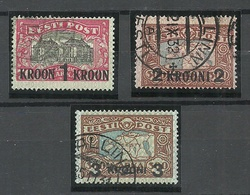 Estonia Estonie 1930 Michel 87 - 89 O - Estonia