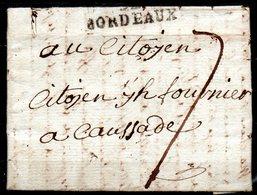 MP33-06: Dept 33 (Gironde) MP BORDEAUX 1797 > Taxe Manuscrite > Lettre Pour CAUSSADE 82 - Marcophilie (Lettres)
