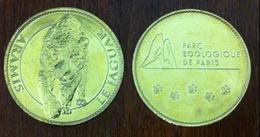 75 PARIS PARC ZOOLOGIQUE LE JAGUAR MÉDAILLE SOUVENIR  ARTHUS BERTRAND JETON MEDALS TOKENS COINS 2018 - 2018
