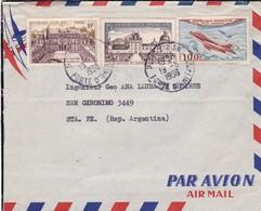 AIRMAIL ENVELOPPE CIRCULEE 1958 PARIS A SANTA FE(ARGENTINE)  - BLEUP - 1927-1959 Briefe & Dokumente