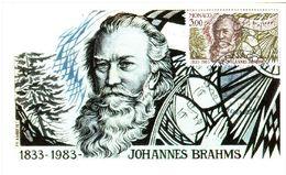 CARTE MAXIMUM 1983 –MONACO Johannes BRAHMS - Cartas Máxima
