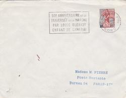 50e ANNIVERSAIRE DE LA TRAVERSEE DE LA MANCHE PAR LOUIS BLERIOT ENFANT DE CAMBRAI. NORD 1959 - BLEUP - France