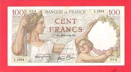 Billet 100 Francs Sully Très Bel Exemplaire Petits Défauts Aspect Superbe 1939 - 1871-1952 Anciens Francs Circulés Au XXème