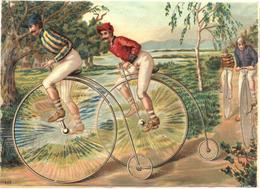 Figurina, Chromo. Sport Bicycle, Cyclisme Cyclistes, Course De Vélo. Bicicletta Biciclo, Gara Ciclistica. Grand Format - Autres