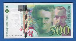 500fr   1994 - 1992-2000 Dernière Gamme