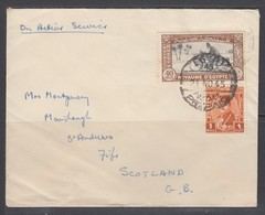 Egypt 1945 Cover To UK 40m Express Stamp - Egypt