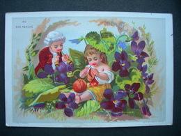CHROMO Doré F Appel AU BON MARCHE BOUCICAUT : ENFANTS Et FLEURS DE VIOLETTES / Victorian Trade Card - Autres