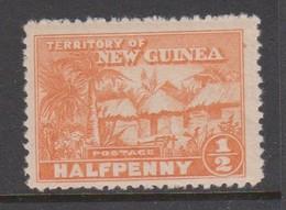 New Guinea 1925 Native Huts Half Penny Orange Mint Never Hinged - Papua New Guinea