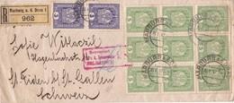 ENVELOPPE CIRCULEE AN 1917 BRUGGE A ST FIDEN RECOMMANDE BLOCK STAMP STAMP A PAIR-RARE - BLEUP - Briefe U. Dokumente