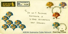 1980 , SINGAPUR - SINGAPORE , PRIMER DIA , ASEAN SUBMARINE CABLE NETWORK , TELECOMUNICACIONES - Singapur (1959-...)