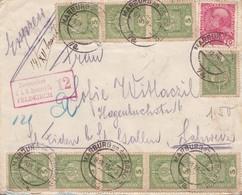 ENVELOPPE CIRCULEE AN 1916 MARBURG A ST FIDEN. STAMP A PAIR, AUTRE MARQUE EXPRESS-RARE - BLEUP - 1850-1918 Empire